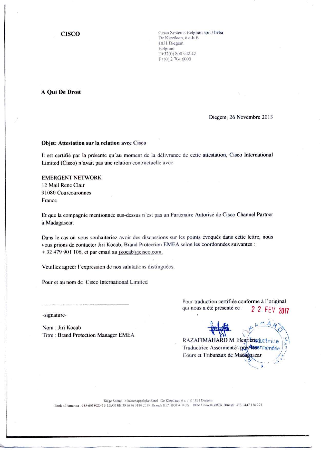 L'arrêt de la Cour d'Appel d'Antananarivo du 13 mai 2016 s ...